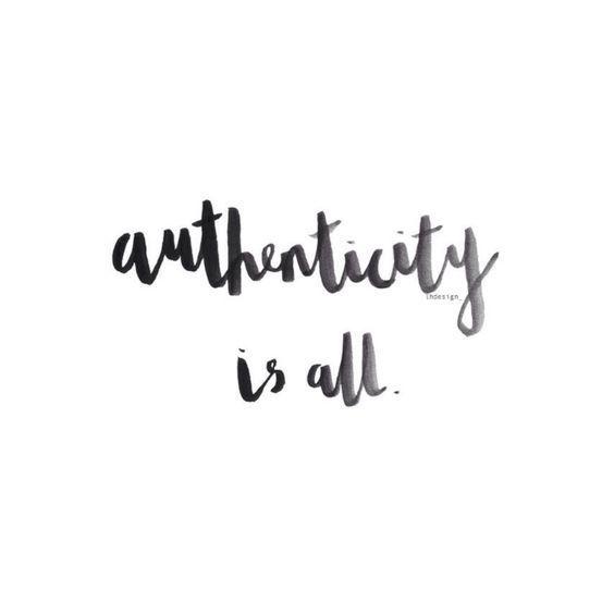 authenticity is all tekstgericht