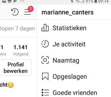 schermafbeelding statistieken instagram