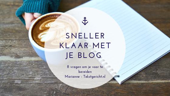 Bloggen? Kost veel te veel tijd …
