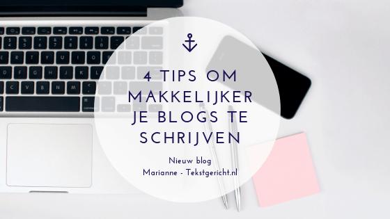 4 tips die het bloggen makkelijker maken