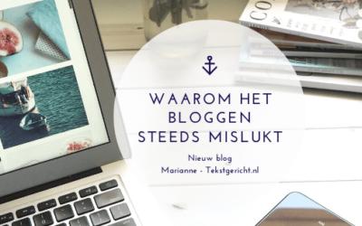 Waarom het bloggen steeds maar niet lukt