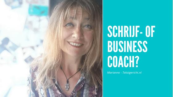 Schrijfcoach of business coach?