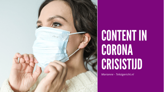 Nieuwe content in Corona crisistijd