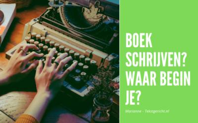 Een boek schrijven? Waar begin je?