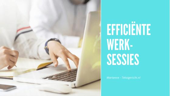 Efficiente werksessies blogs social media schrijfcoach ondernemers