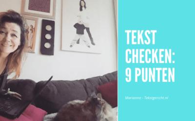 9 punten om je tekst op te checken