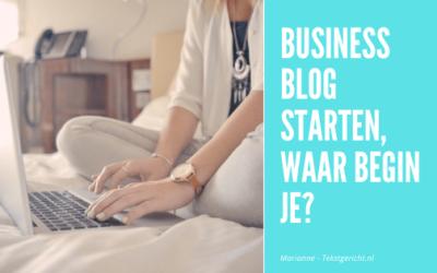 Een succesvol business blog, waar begin je?