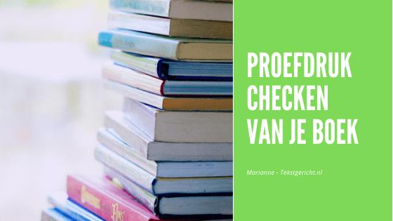 Proefdruk checken van je boek