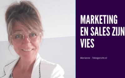 Marketing en sales zijn vies