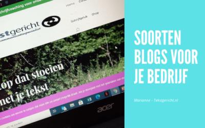 Soorten blogs voor je bedrijf