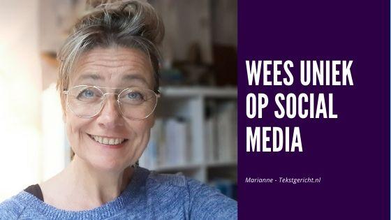 uniek op social media schrijfcoach contentstrategie ondernemerschap
