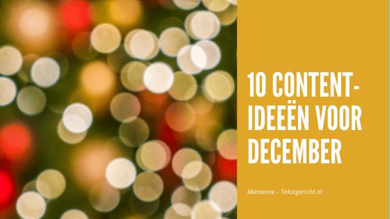 10 content-ideeën voor december