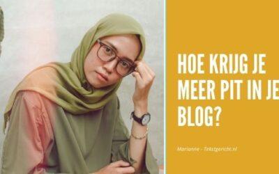 Pit in je blog