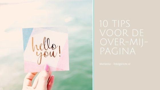10 tips Over mij pagina marianne schrijfcoach ondernemers