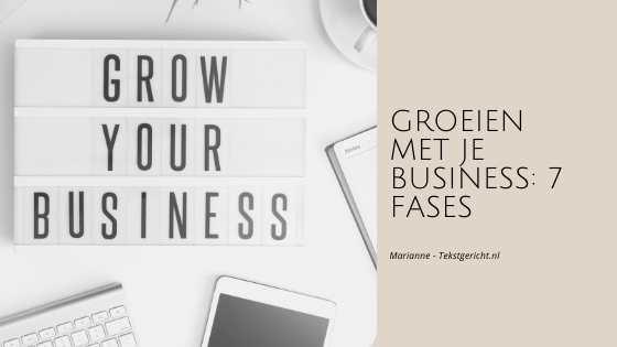 groei business 7 fases marianne schrijfcoach ondernemers