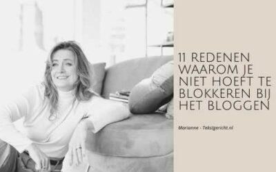 Blokkeren bij het bloggen?
