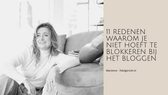 blokkeren bloggen marianne schrijfcoach ondernemers