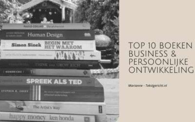 Top 10 boeken business & persoonlijke ontwikkeling