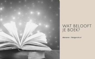 Wat belooft je boek?