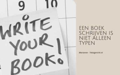 Een boek schrijven is niet alleen typen