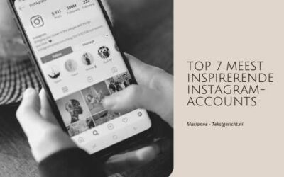 Top 7 van de meest inspirerende Instagram-accounts