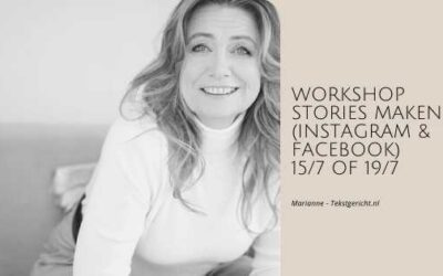 Workshop Stories (verhalen maken) voor Instagram (en Facebook)