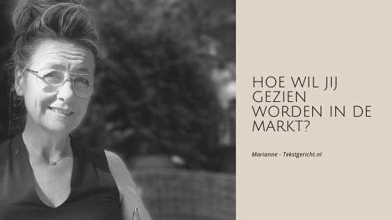 profileren in de markt marianne schrijfcoach ondernemers