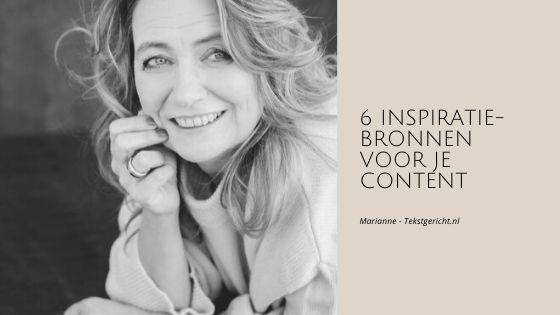 6 inspiratiebronnen voor je content